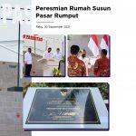 Peresmian Rumah Susun Pasar Rumput, Kios dan Fasilitas oleh Presiden Jokowi