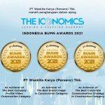 Waskita Meraih 3 Penghargaan dalam Ajang The Iconomics Indonesia BUMN Award 2021